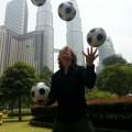 Voetbal-jongleur Erik Borgman